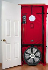Vorrichtung für einen Blower-Door-Test