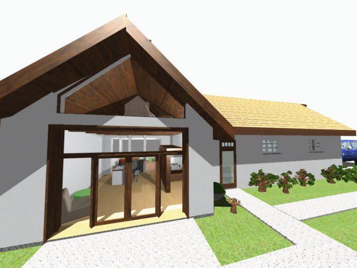 Umbau Schwimmhalle Edlach – Visualisierung des Eingangsbereichs