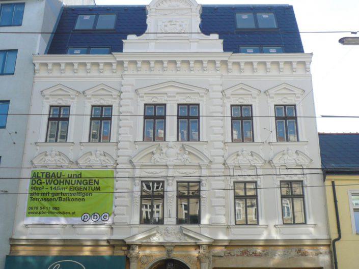 Sanierung Wohnhaus Ottakring – Ansicht der Fassade