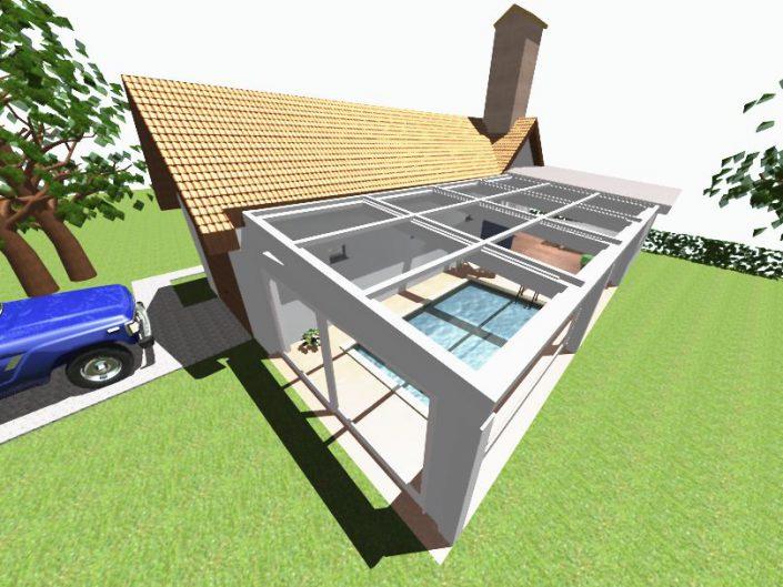 Umbau Schwimmhalle Edlach – Visualisierung des Außenbereichs