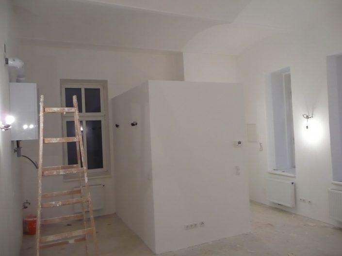 Sanierung Kleinwohnung – während des Ausbaus