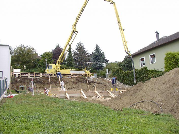 Errichtung Einfamilienhaus Großebersdorf – Baugrube