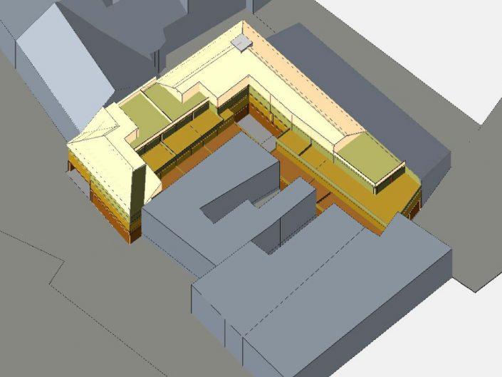 Bebauungsstudien – digitale Präsentation eines Wohnhauses