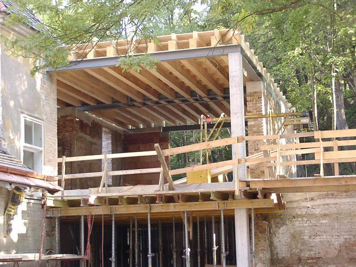 Sanierung Loftbüro Dornbach – Rohbauphase