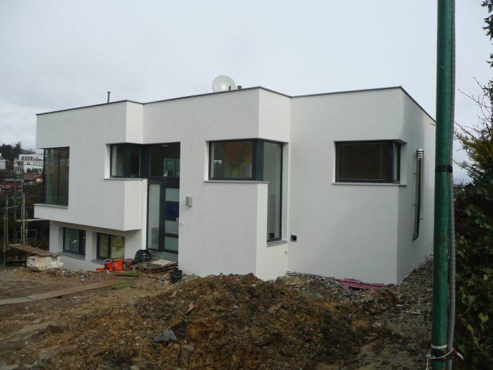 Errichtung gekuppeltes Kleingartenhaus – Straßenfassade