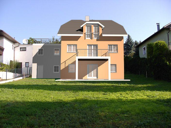 Errichtung Einfamilienhaus Großebersdorf – Visualisierung des Projekts