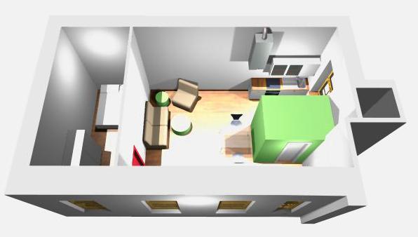 Sanierung Kleinwohnung – Visualisierung aus der Vogelperspektive