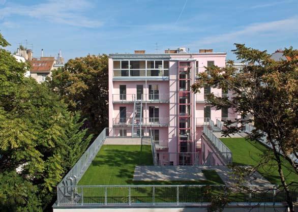 Umbau Lofts Dreihausgasse – Gartenseitige Ansicht