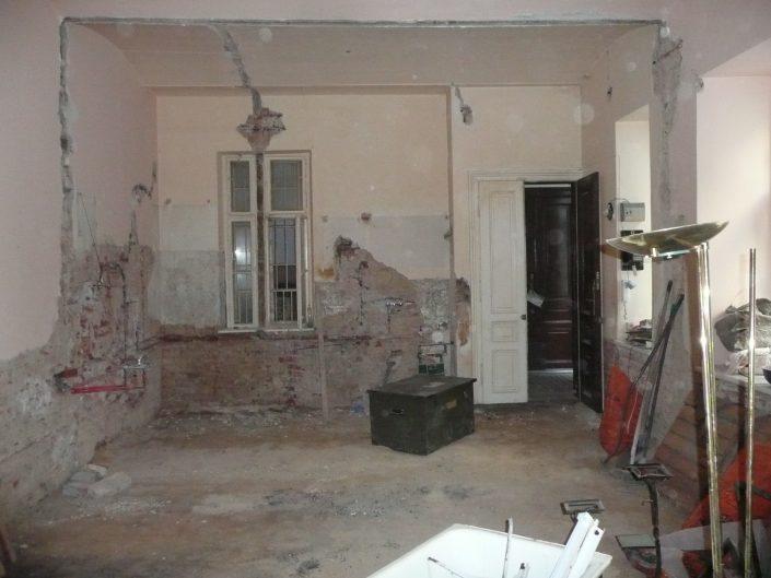 Sanierung Kleinwohnung – vor dem Ausbau