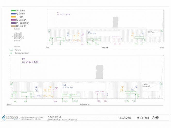 Ausstellung STONEHENGE – Bauplan in der Queransicht