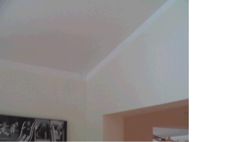 Dachschräge in einem Einfamilienhaus