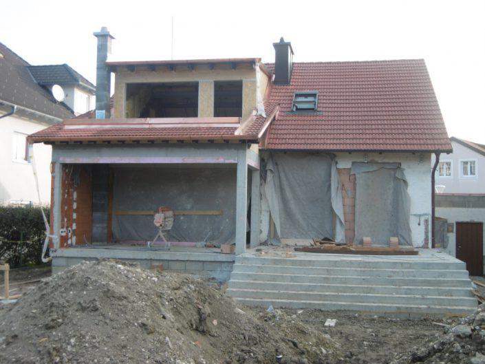 Umbau Einfamilienhaus Biedermannsdorf – Während der Bauphase