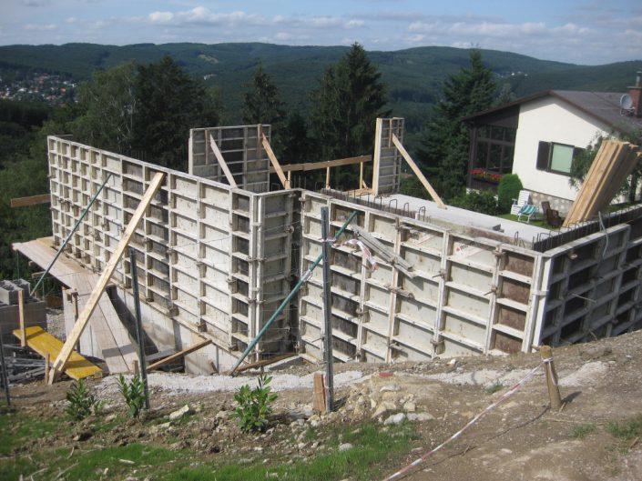 Neubau Einfamilienhaus – Außenwände im Rohbau