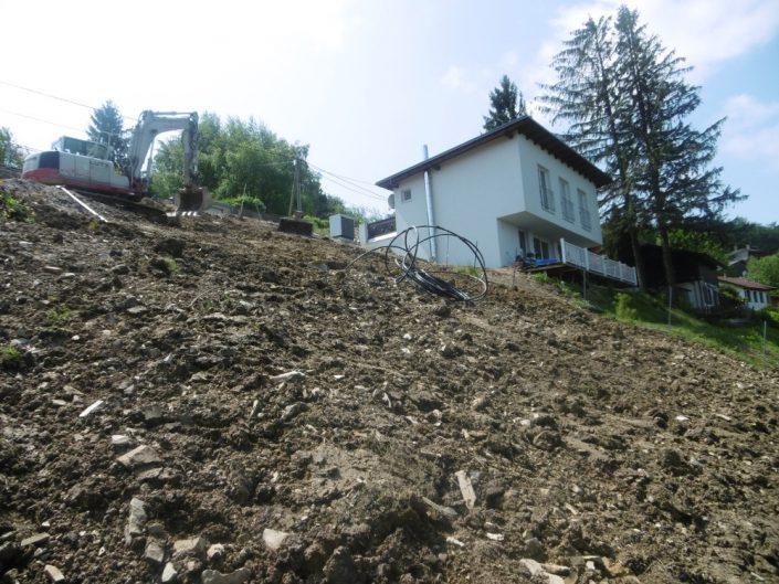 Neubau Einfamilienhaus – Froschperspektive des Baugrunds