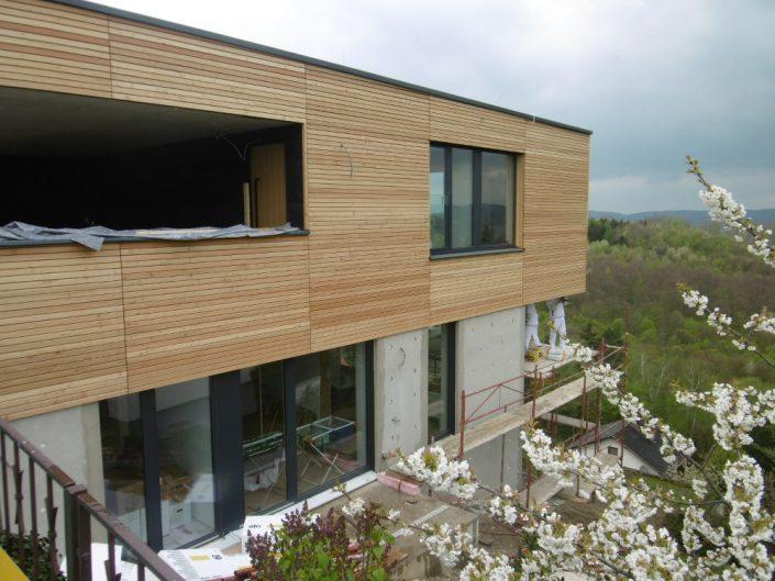 Neubau Einfamilienhaus – Einfamilienhaus während der Fertigstellung