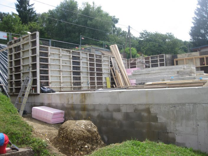 Neubau Einfamilienhaus – Errichtung des Fundaments