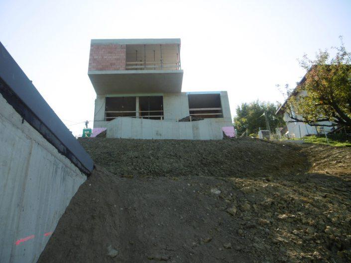 Neubau Einfamilienhaus – Der Rohbau aus der Froschperspektive