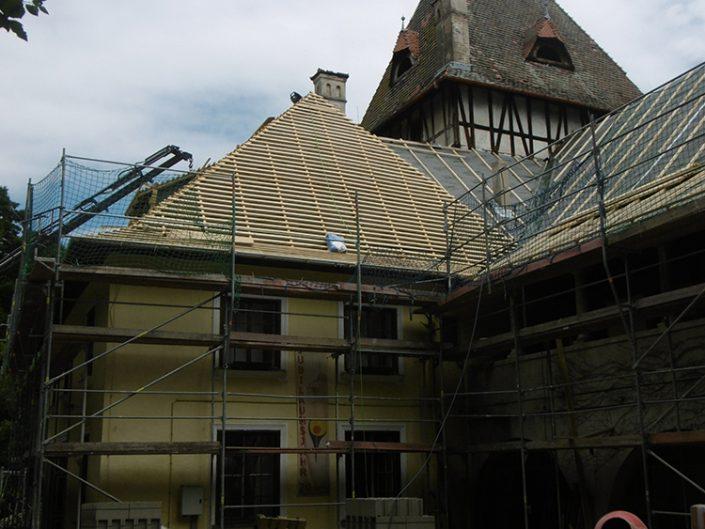 Umbau Waldorfschule Schönau – Außenansicht während des Umbaus