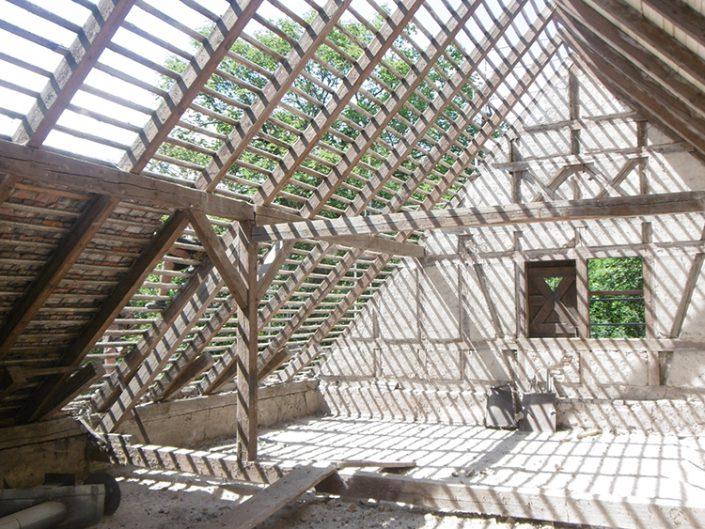Umbau Waldorfschule Schönau – Dachbalken