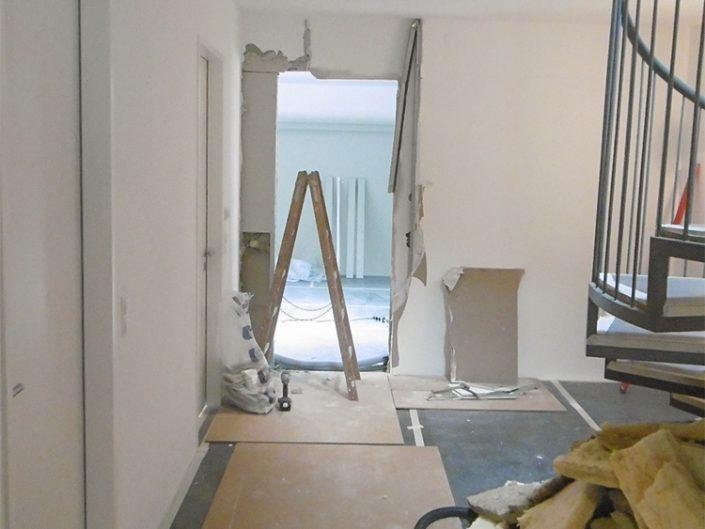 Wohnungsumbau Dornbacherstraße – Umbauarbeiten im Durchgangsbereich