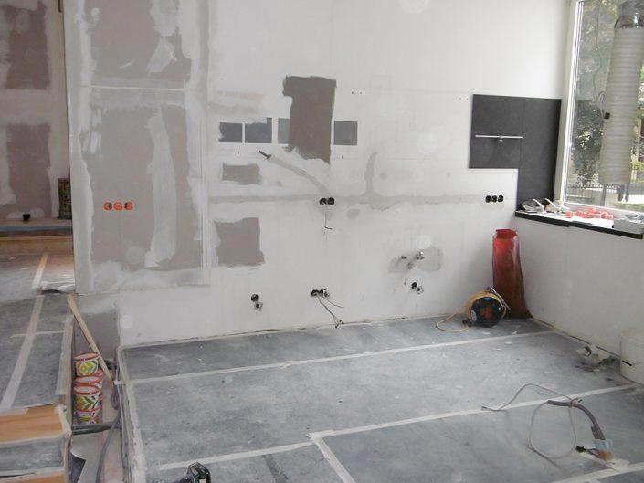 Wohnungsumbau Dornbacherstraße – Küche während der Bauphase