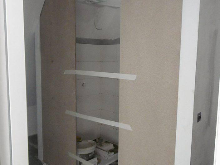 Wohnungsumbau Dornbacherstraße - Rohbau des Badezimmers