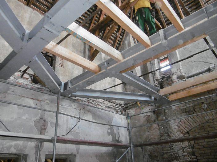 Umbau Waldorfschule Schönau – Decke mit Stahlkonstruktionen
