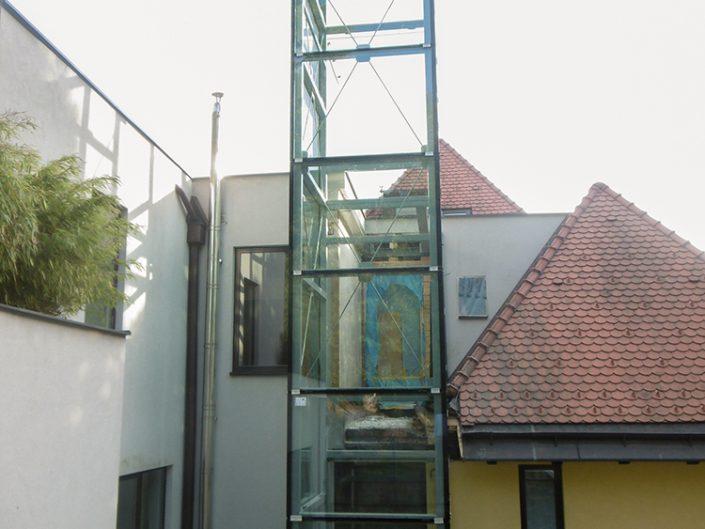Wohnungsumbau Dornbacherstraße – Ansicht des Aufzugs