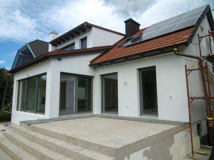 Umbau Einfamilienhaus Biedermannsdorf – Rohbau der Terrasse