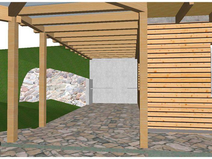 Projekt Dörfl – Visualisierung der Veranda