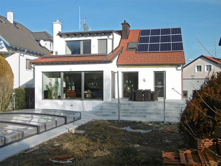 Umbau Einfamilienhaus Biedermannsdorf – Garten mit Terrasse