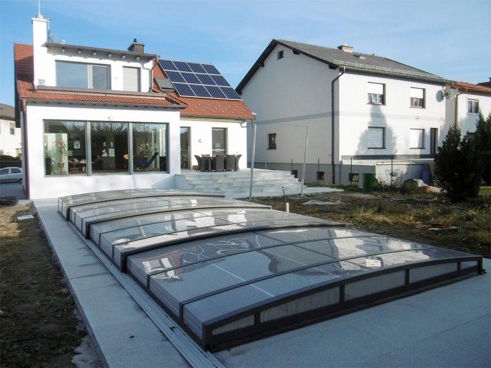 Umbau Einfamilienhaus Biedermannsdorf – Swimmingpool mit Abdeckung