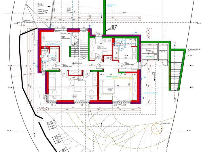 Einfamilienhaus Klosterneuburg – Plan in Vogelperspektive