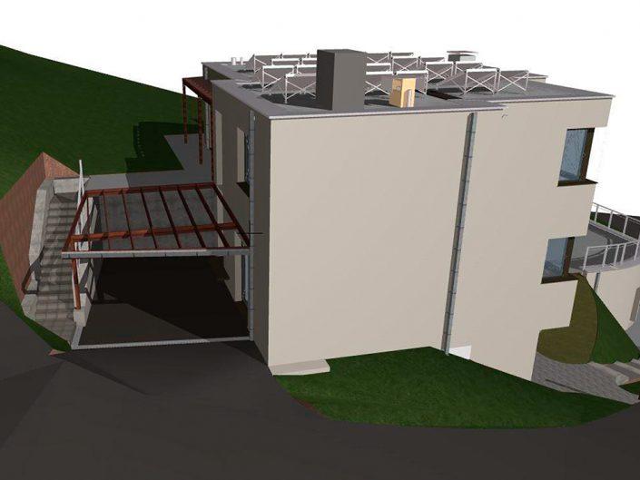 Einfamilienhaus Klosterneuburg – Visualisierung der Hinteransicht