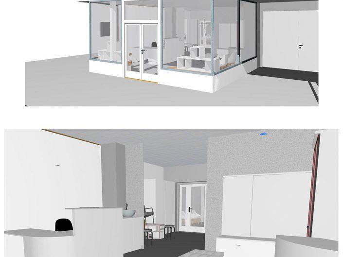 Schuhgeschäft Baden – Visualisierung des Eingangsbereichs