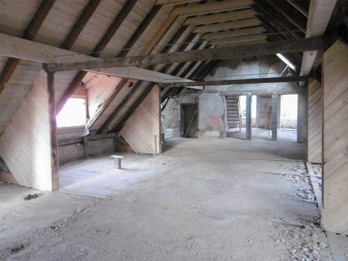 Umbau Waldorfschule Schönau – Innenausbau des Dachstuhls Gesamtansicht