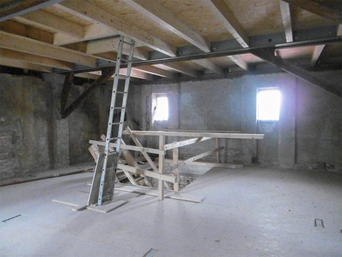 Umbau Waldorfschule Schönau – Innenausbau des Dachstuhls