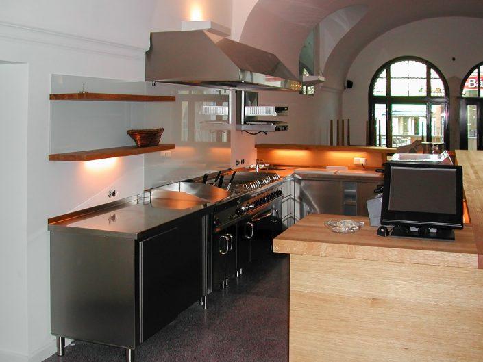Restaurant in Dornbach – Ansicht der Küche