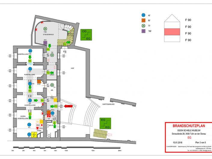 Neuer Brandschutzplan des Schiele-Museums