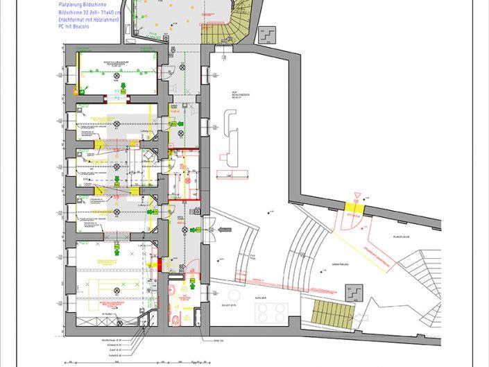 Bauplan für den Einzug der Netzwerkkabel