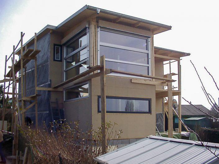 Kleingartenhaus aus Holz – Das Holzhaus im fortgeschrittenen Bau