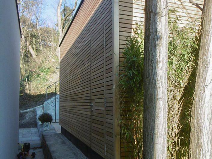 Altbauwohnung in Hernals – Rückseite der Sauna