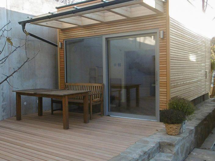 Altbauwohnung in Hernals – Eingangsbereich der Sauna