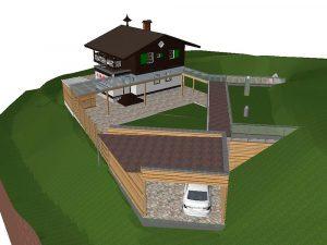 Visualisierung eines Wohnsitzes an der Rax